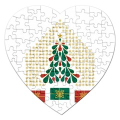 Christmas Tree Present House Star Jigsaw Puzzle (heart)
