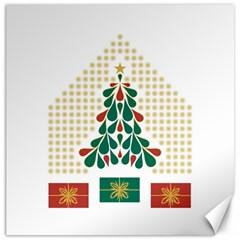 Christmas Tree Present House Star Canvas 20  X 20
