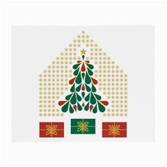 Christmas Tree Present House Star Small Glasses Cloth (2 Side)
