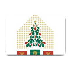 Christmas Tree Present House Star Small Doormat