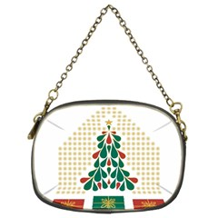 Christmas Tree Present House Star Chain Purses (two Sides)