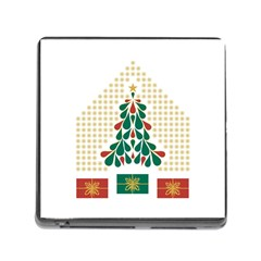 Christmas Tree Present House Star Memory Card Reader (square)