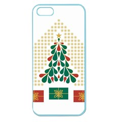 Christmas Tree Present House Star Apple Seamless Iphone 5 Case (color)