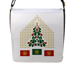 Christmas Tree Present House Star Flap Messenger Bag (l)