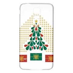 Christmas Tree Present House Star Samsung Galaxy S5 Back Case (white)