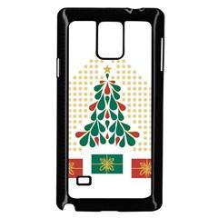 Christmas Tree Present House Star Samsung Galaxy Note 4 Case (black)