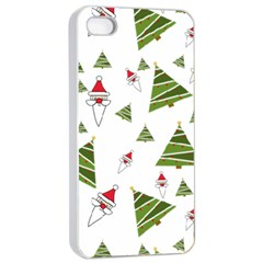 Christmas Santa Claus Decoration Apple Iphone 4/4s Seamless Case (white)