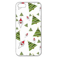 Christmas Santa Claus Decoration Apple Seamless Iphone 5 Case (clear)