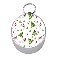 Christmas Santa Claus Decoration Mini Silver Compasses