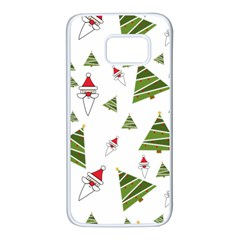 Christmas Santa Claus Decoration Samsung Galaxy S7 White Seamless Case