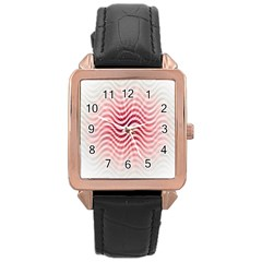 Art Abstract Art Abstract Rose Gold Leather Watch