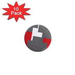 Cross Abstract Shape Line 1  Mini Magnet (10 Pack)