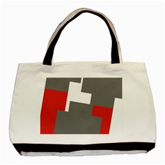 Cross Abstract Shape Line Basic Tote Bag