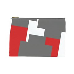 Cross Abstract Shape Line Cosmetic Bag (large)