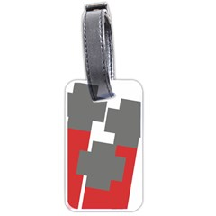 Cross Abstract Shape Line Luggage Tags (one Side)