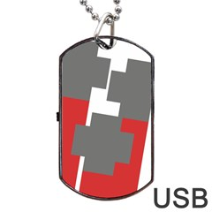Cross Abstract Shape Line Dog Tag Usb Flash (two Sides)