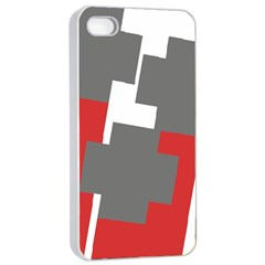 Cross Abstract Shape Line Apple Iphone 4/4s Seamless Case (white)