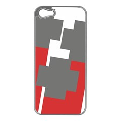 Cross Abstract Shape Line Apple Iphone 5 Case (silver)