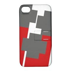 Cross Abstract Shape Line Apple Iphone 4/4s Hardshell Case With Stand
