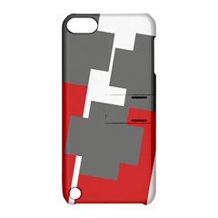 Cross Abstract Shape Line Apple Ipod Touch 5 Hardshell Case With Stand