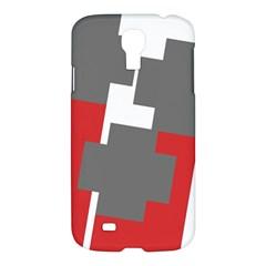 Cross Abstract Shape Line Samsung Galaxy S4 I9500/i9505 Hardshell Case