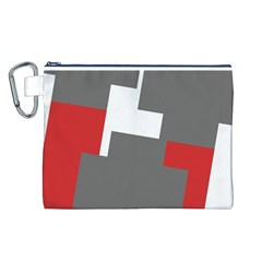 Cross Abstract Shape Line Canvas Cosmetic Bag (l)