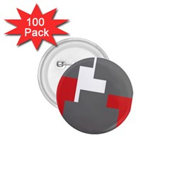 Cross Abstract Shape Line 1 75  Buttons (100 Pack)