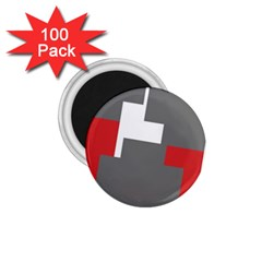 Cross Abstract Shape Line 1 75  Magnets (100 Pack)
