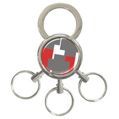 Cross Abstract Shape Line 3 Ring Key Chains