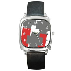 Cross Abstract Shape Line Square Metal Watch