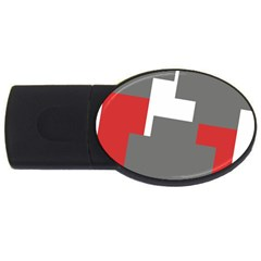 Cross Abstract Shape Line Usb Flash Drive Oval (4 Gb)