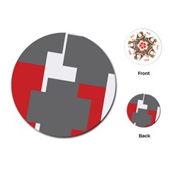Cross Abstract Shape Line Playing Cards (round)