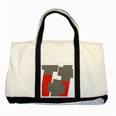 Cross Abstract Shape Line Two Tone Tote Bag