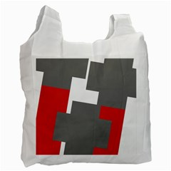 Cross Abstract Shape Line Recycle Bag (one Side)