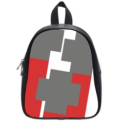 Cross Abstract Shape Line School Bag (small)