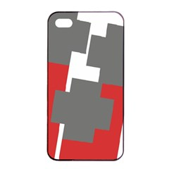 Cross Abstract Shape Line Apple Iphone 4/4s Seamless Case (black)