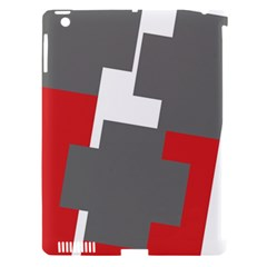 Cross Abstract Shape Line Apple Ipad 3/4 Hardshell Case (compatible With Smart Cover)