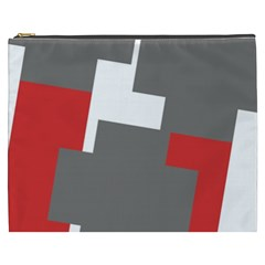Cross Abstract Shape Line Cosmetic Bag (xxxl)