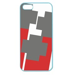 Cross Abstract Shape Line Apple Seamless Iphone 5 Case (color)