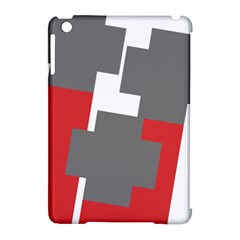 Cross Abstract Shape Line Apple Ipad Mini Hardshell Case (compatible With Smart Cover)