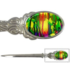 Abstract Vibrant Colour Botany Letter Openers