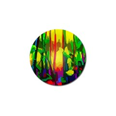Abstract Vibrant Colour Botany Golf Ball Marker