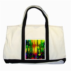 Abstract Vibrant Colour Botany Two Tone Tote Bag