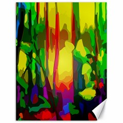 Abstract Vibrant Colour Botany Canvas 18  X 24