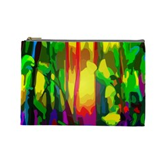 Abstract Vibrant Colour Botany Cosmetic Bag (large)