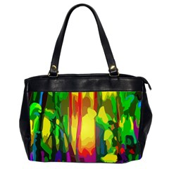 Abstract Vibrant Colour Botany Office Handbags (2 Sides)