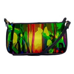 Abstract Vibrant Colour Botany Shoulder Clutch Bags
