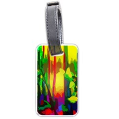 Abstract Vibrant Colour Botany Luggage Tags (two Sides)