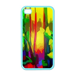 Abstract Vibrant Colour Botany Apple Iphone 4 Case (color)