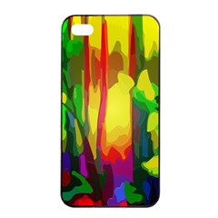 Abstract Vibrant Colour Botany Apple Iphone 4/4s Seamless Case (black)